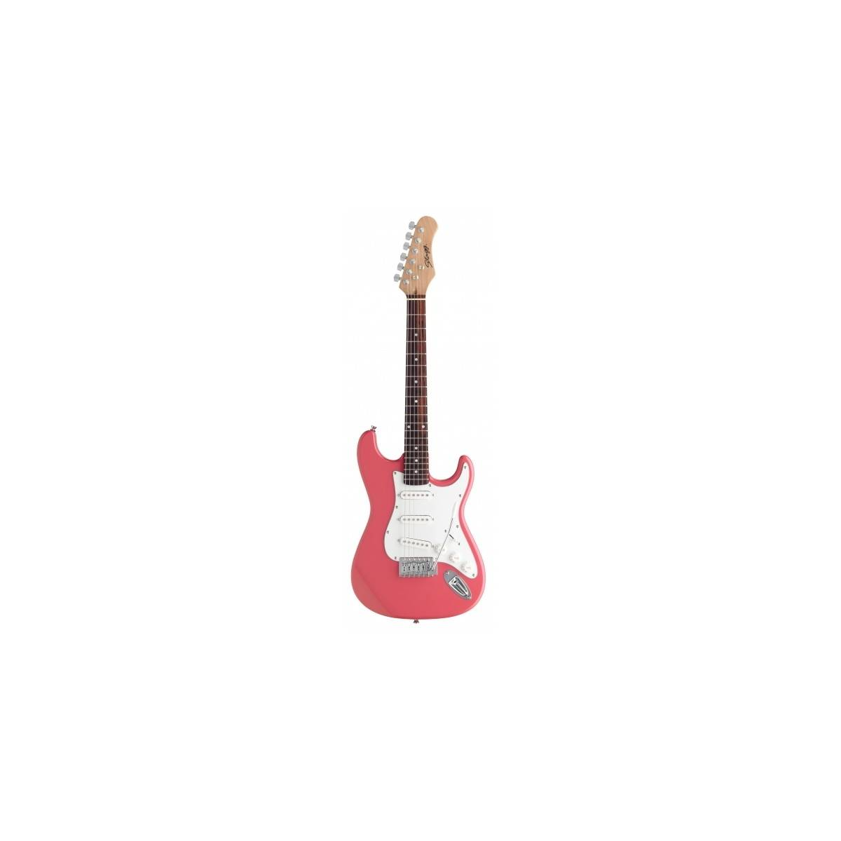 guitare lectrique enfant 3 4 rose stagg guitare lectrique enfant. Black Bedroom Furniture Sets. Home Design Ideas