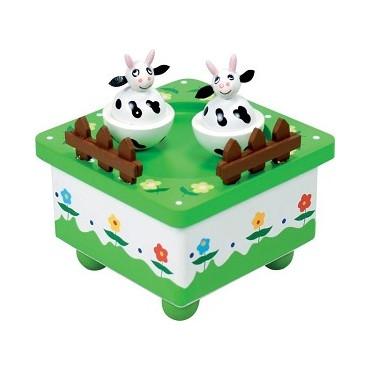 Boîte à musique Vaches dans le pré