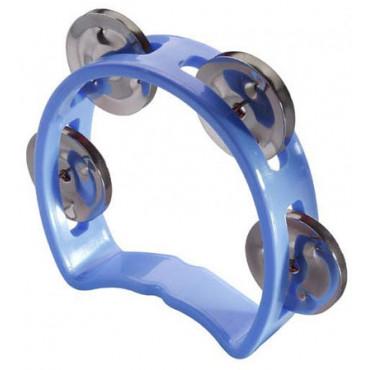 Mini tambourin cymbalettes bleu
