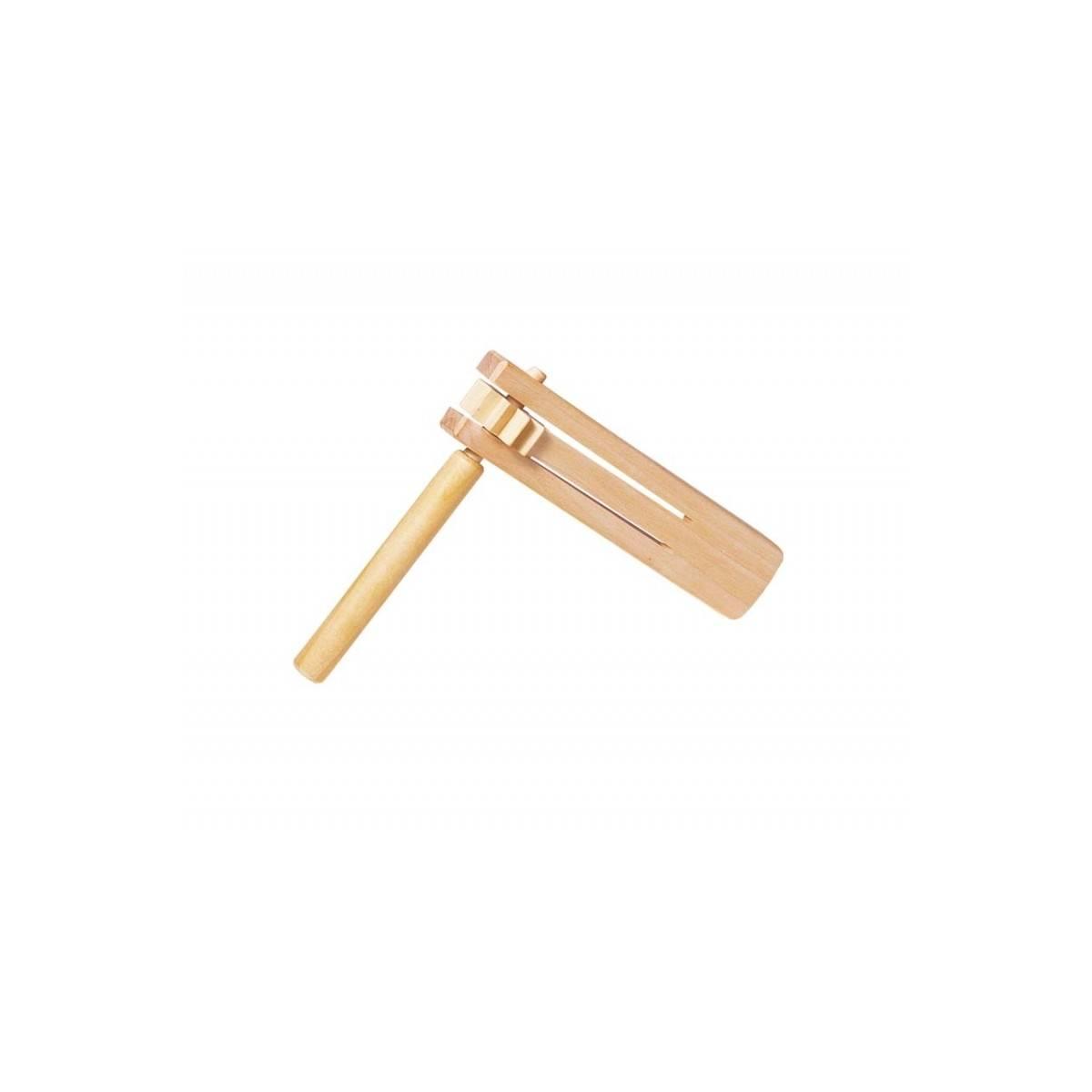 Crécelle simple bois naturel - Petite