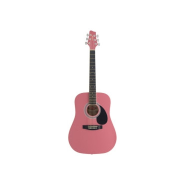 Guitare enfant 3/4 folk rose
