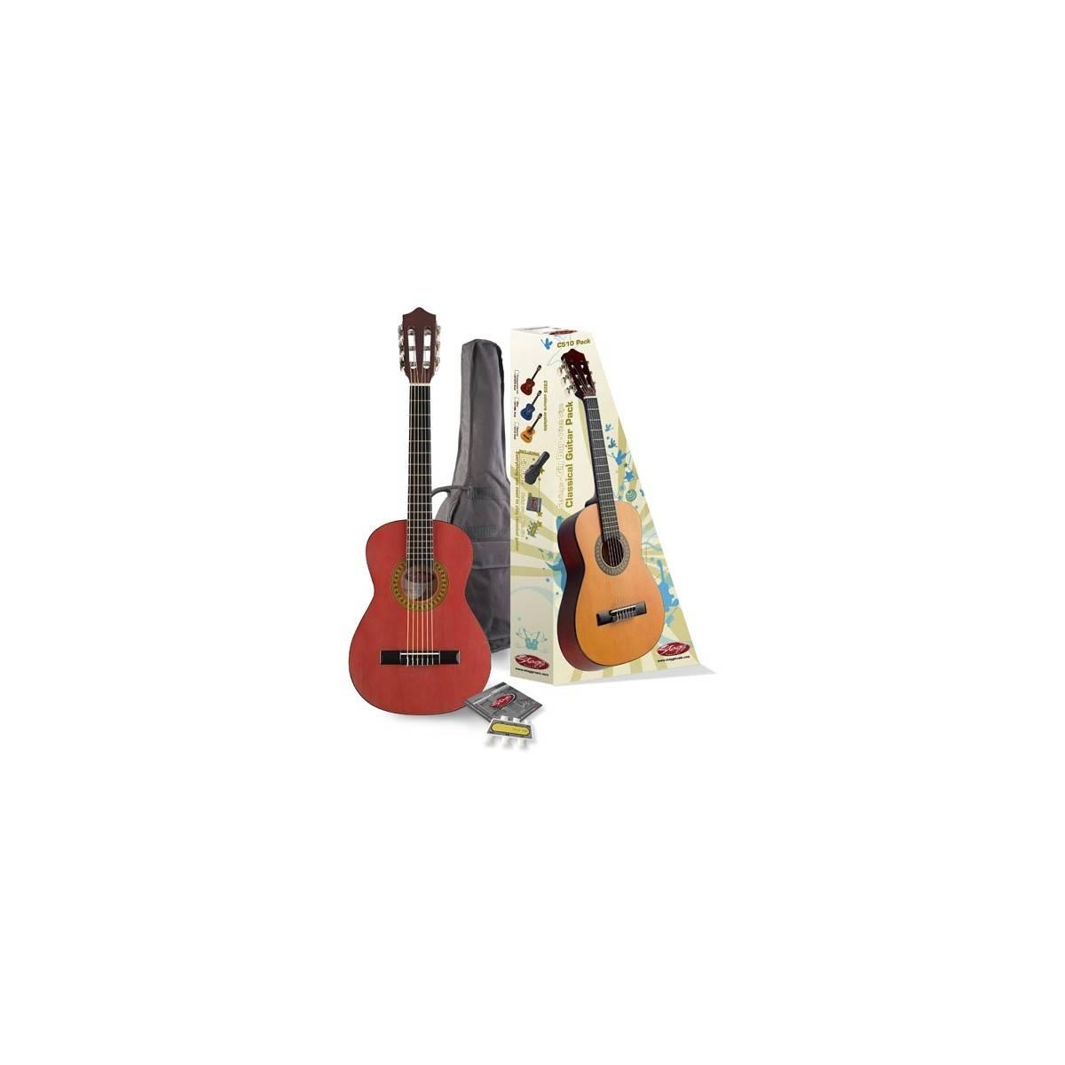 Pack guitare classique 1/2 Rouge