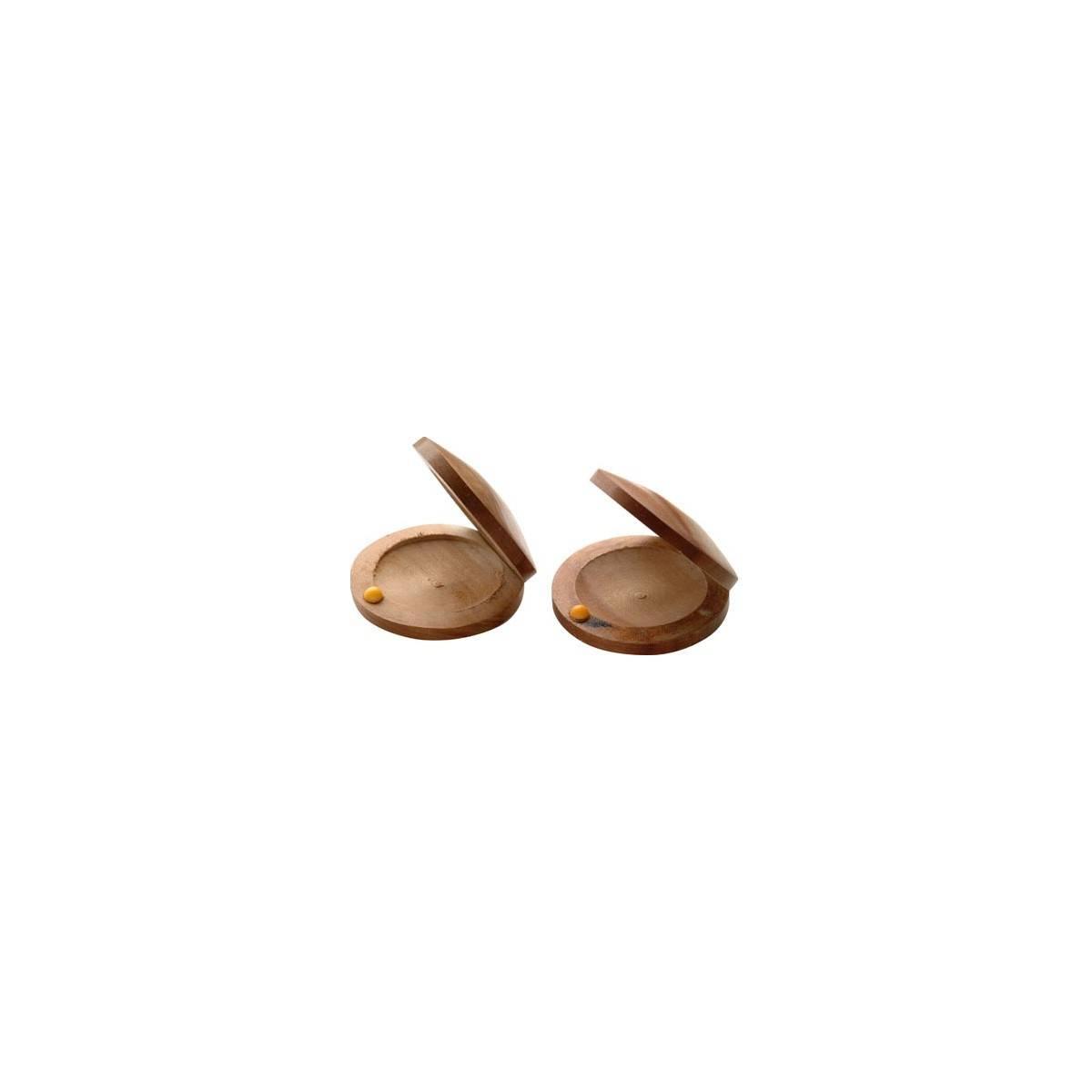 Paire de castagnettes bois naturel