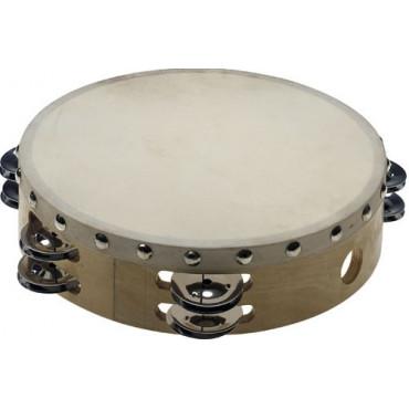 Tambourin Enfant peau et cymbalettes 20 cm