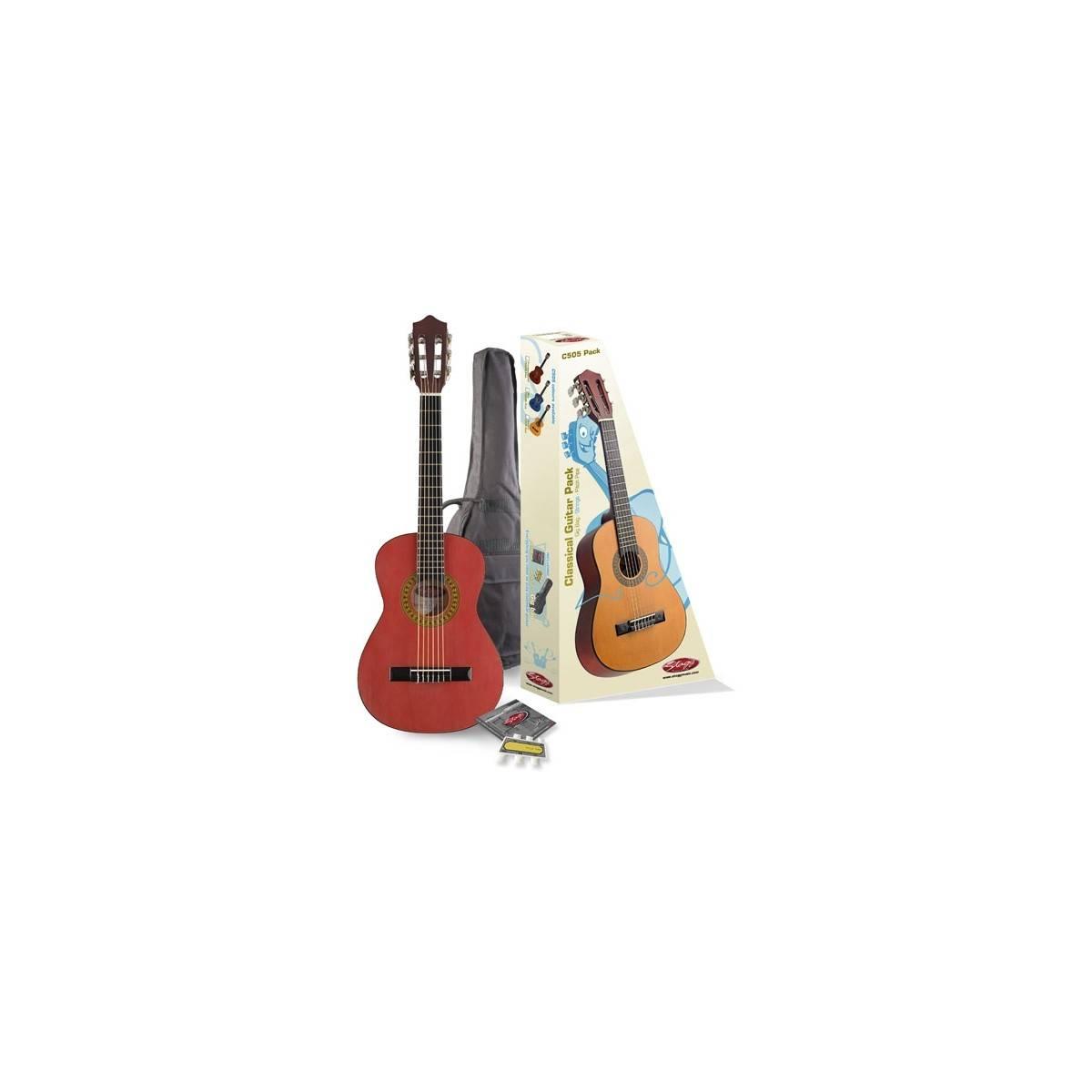 Pack guitare classique 1/4  Rouge