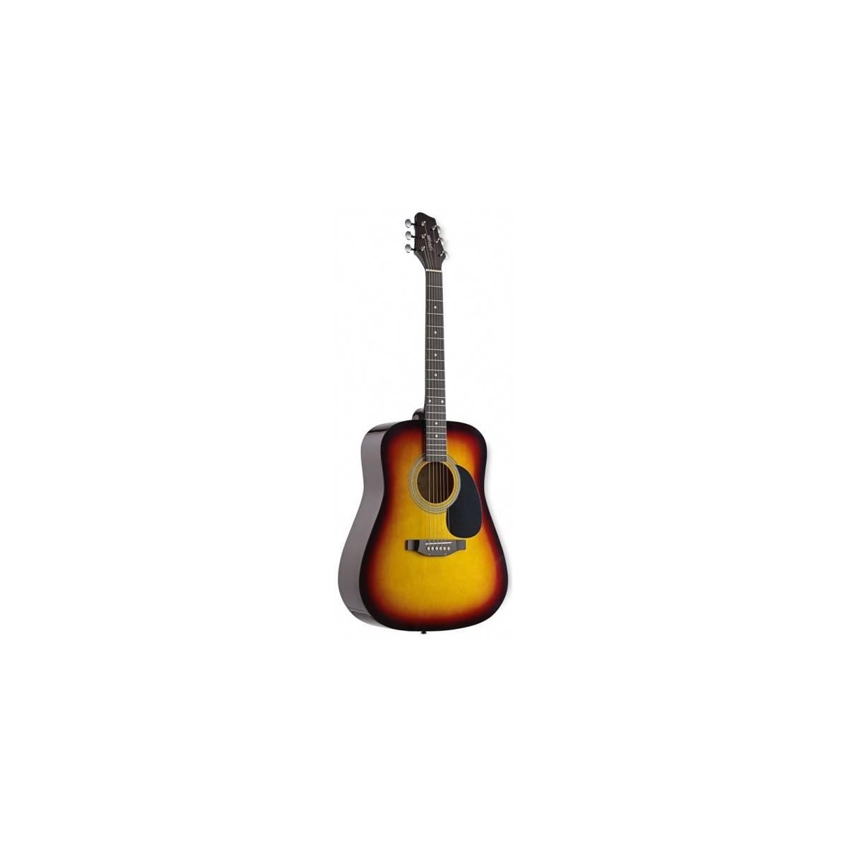 guitare folk 4 4 d butant guitare acoustique sunburst. Black Bedroom Furniture Sets. Home Design Ideas