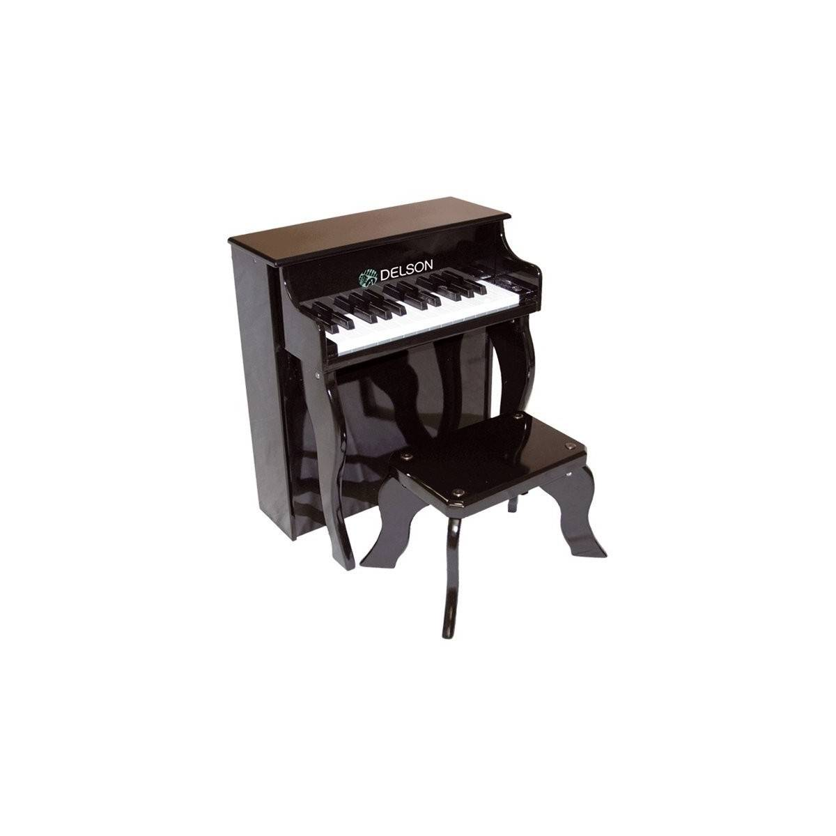 piano enfant delson noir piano droit d 39 veil musical. Black Bedroom Furniture Sets. Home Design Ideas
