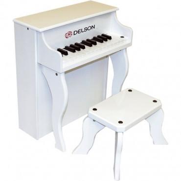 Piano droit enfant Blanc Delson
