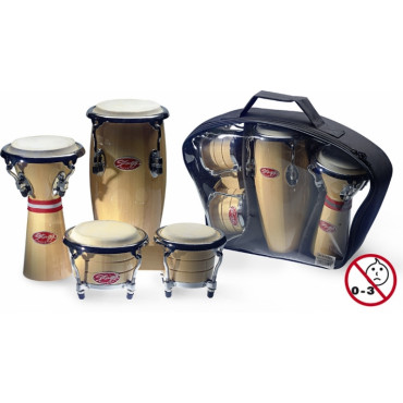 Set de 3 mini-percussions Afro-Latines