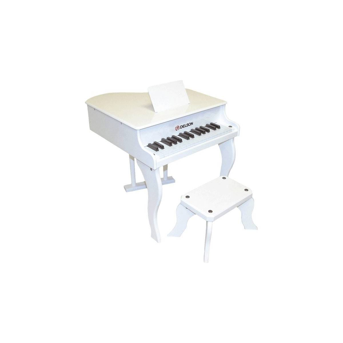 Piano queue enfant blanc piano delson no zikidz for Piano blanc a queue