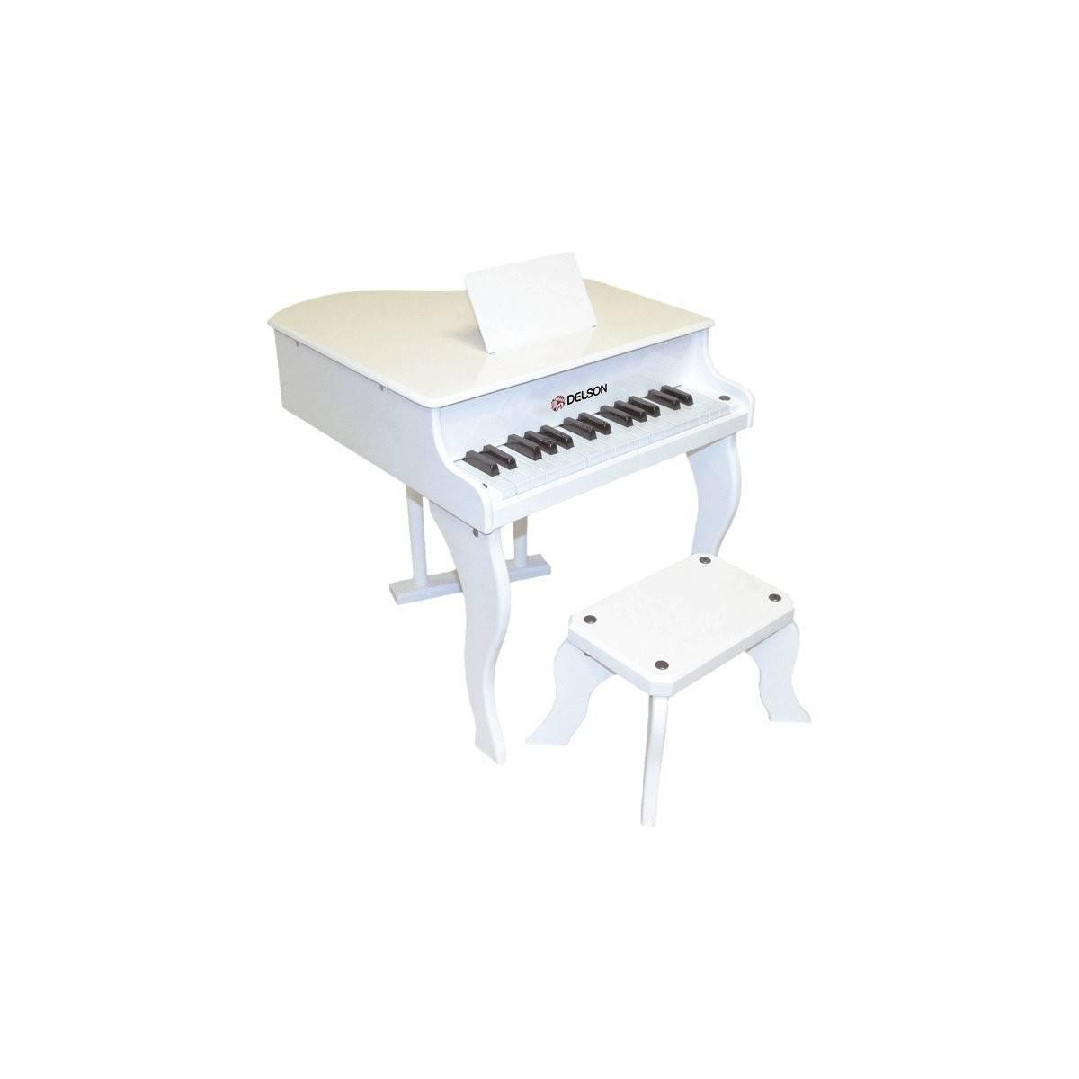 Piano à Queue Jouet Blanc
