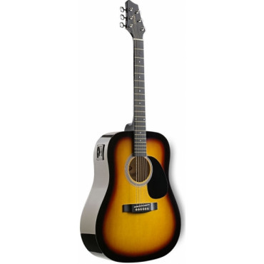 Guitare Folk Electroacoustique 4/4 Sunburst