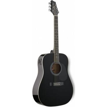 Guitare Folk Electroacoustique 4/4 Noir