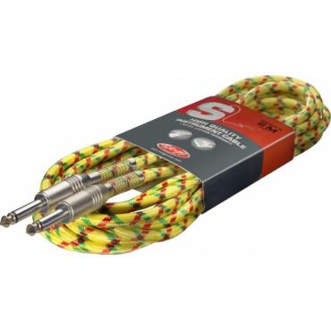 Câble Corde jack/jack 6m jaune