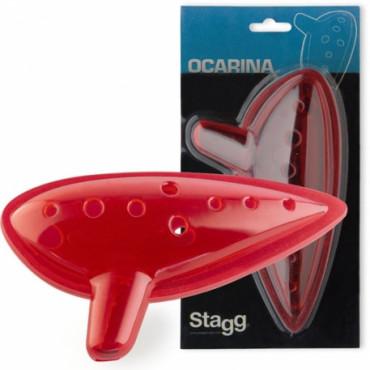 Ocarina  en plastique rouge