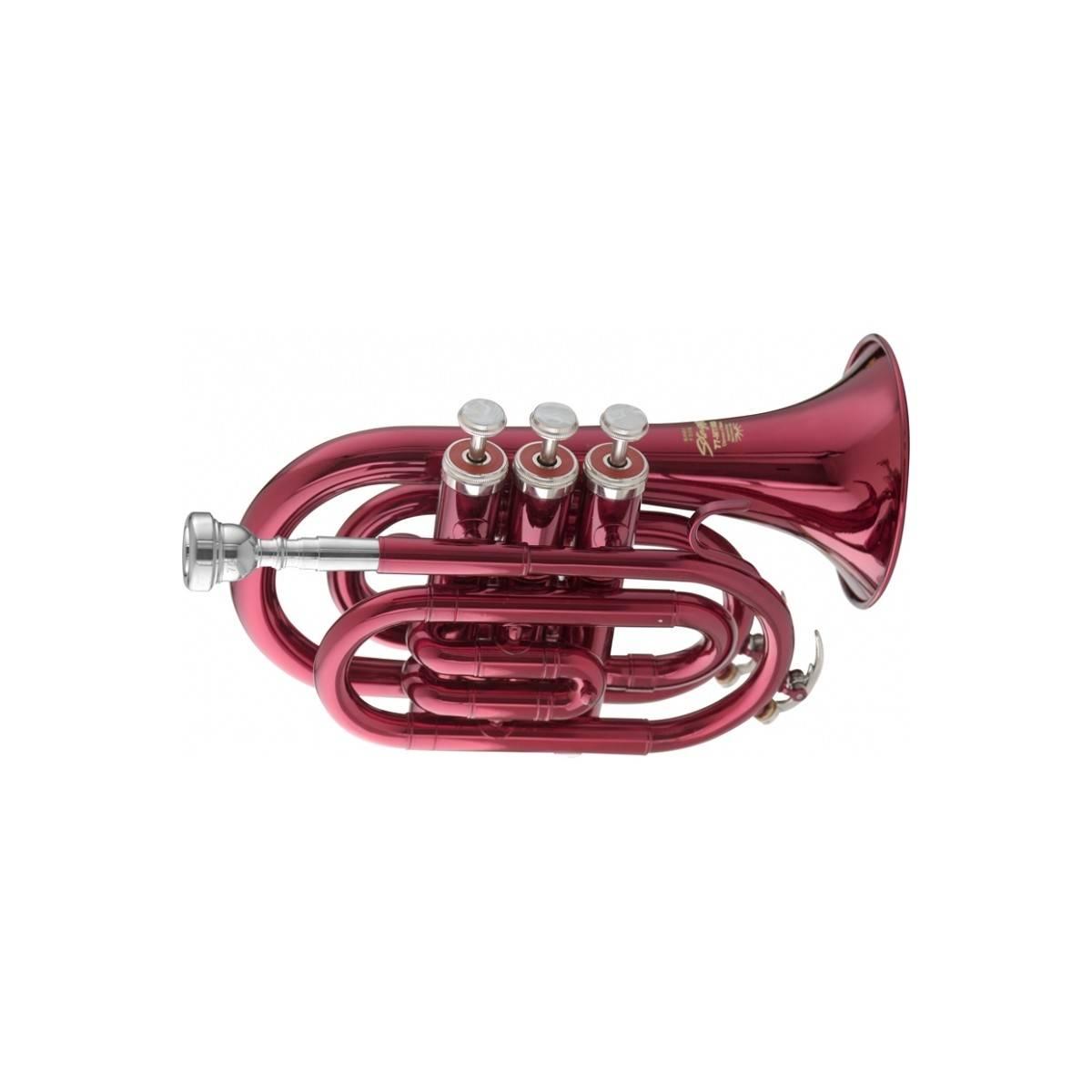 Trompette de Poche Stagg Rouge