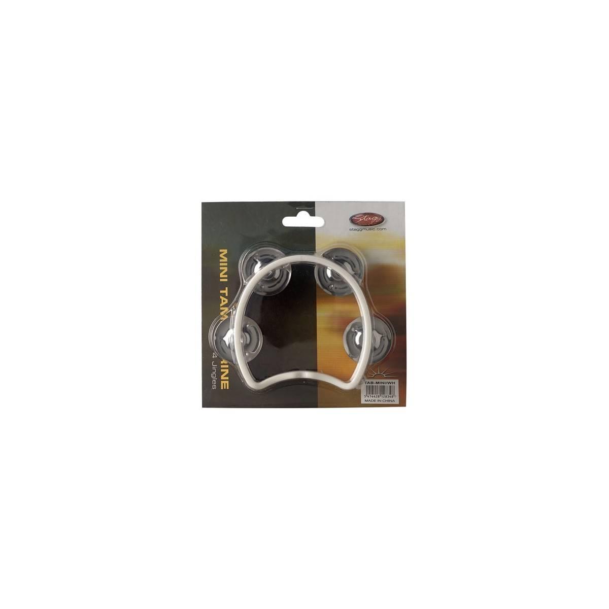 Mini tambourin cymbalettes blanc