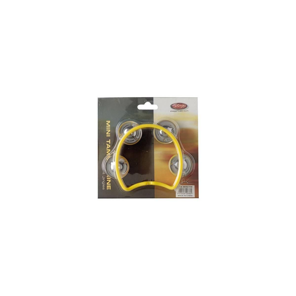 Mini tambourin cymbalettes jaune