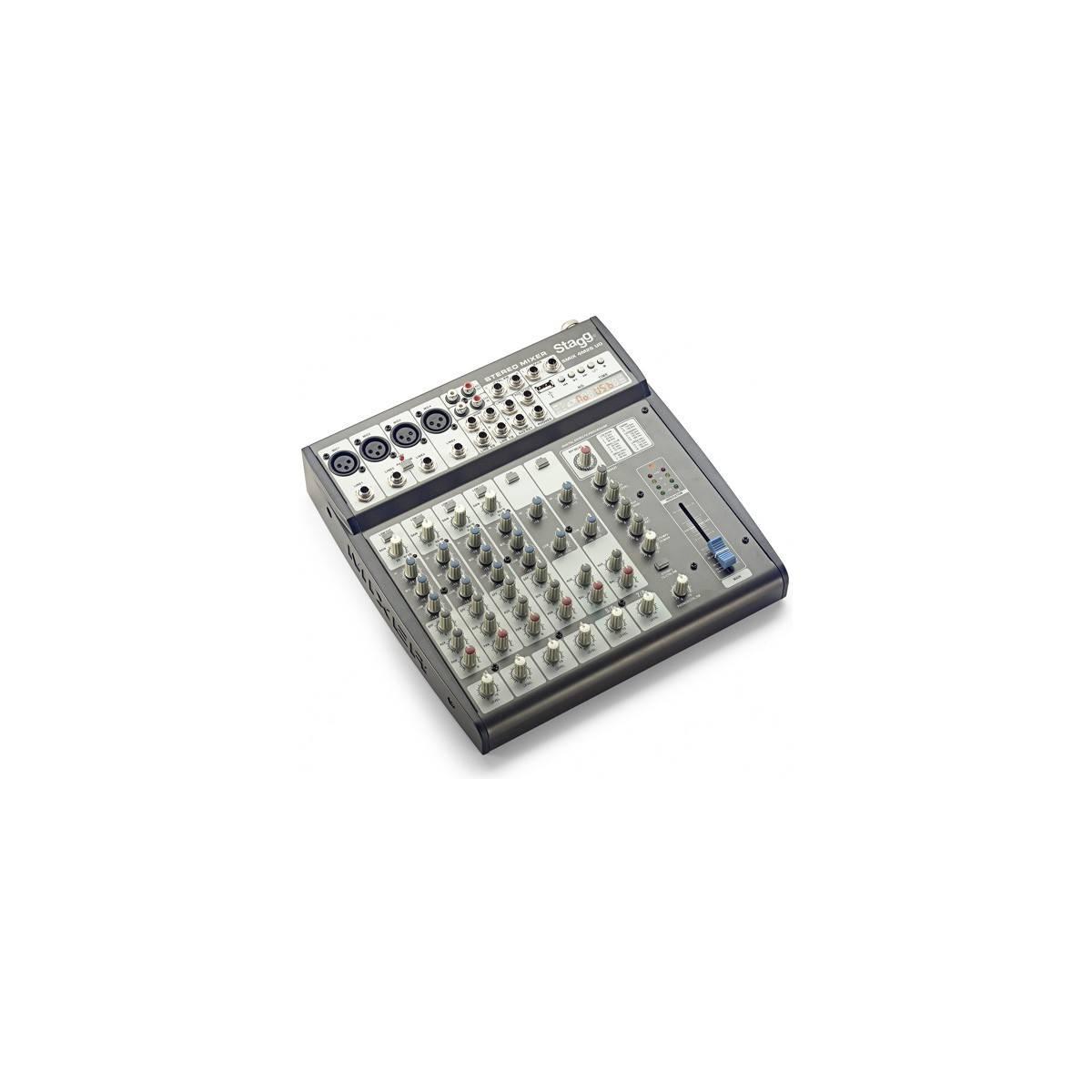 Table de mixage 6 pistes + Effets intégrés + USB