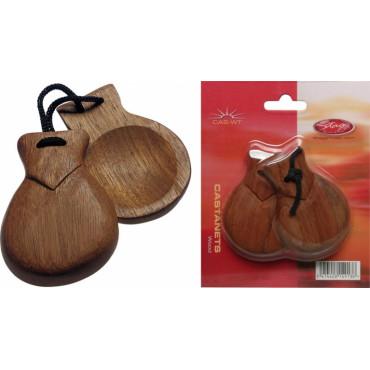 Castagnettes traditionnelles en bois