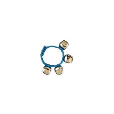 Bracelet de grelots de couleur bleue
