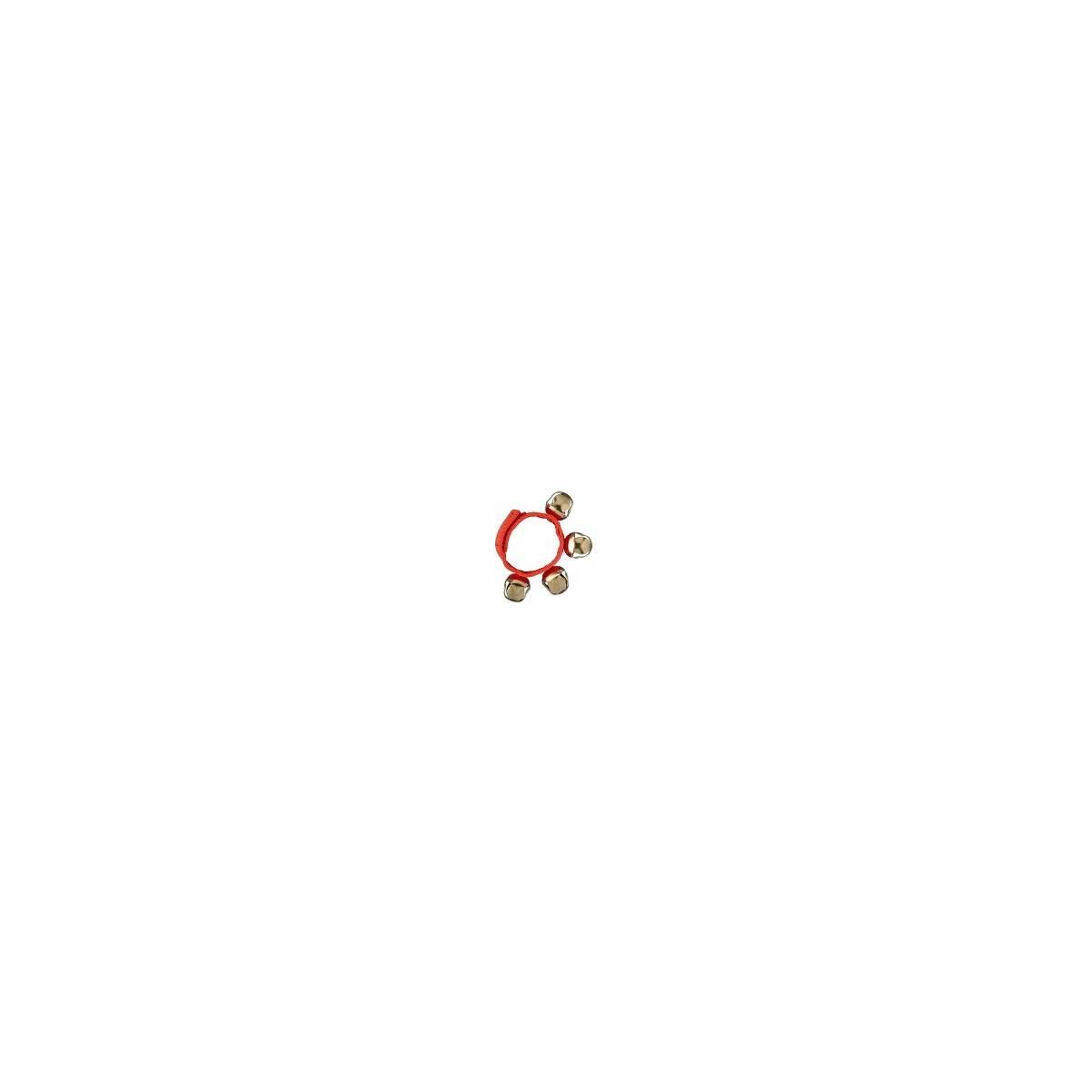 Bracelet de grelots de couleur rouge