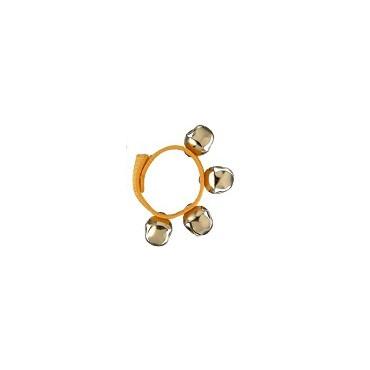 Bracelet de grelots de couleur jaune