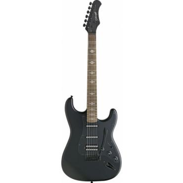 Guitare électrique FAT S Noire Gothique