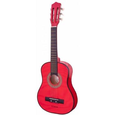 Guitare jouet 1/4 classique rouge