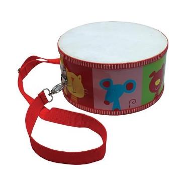 Tambour de fanfare rouge - motifs Animaux