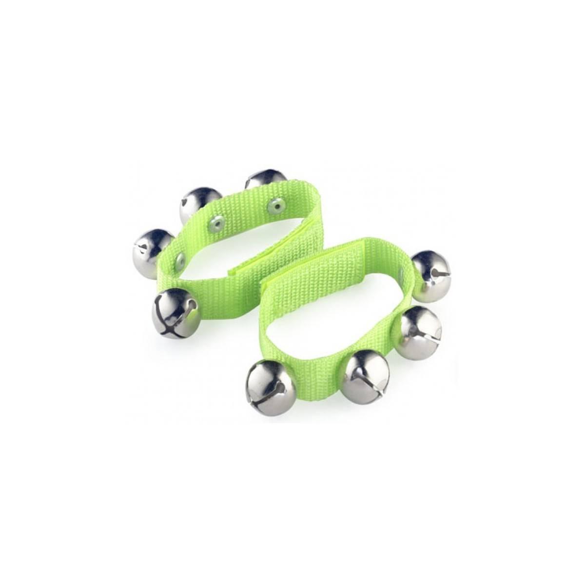 Bracelets de grelots verts - la paire