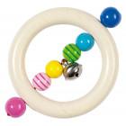 Hochet grelot anneau et perles