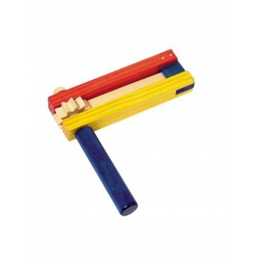 Crécelle simple tricolore - Grande