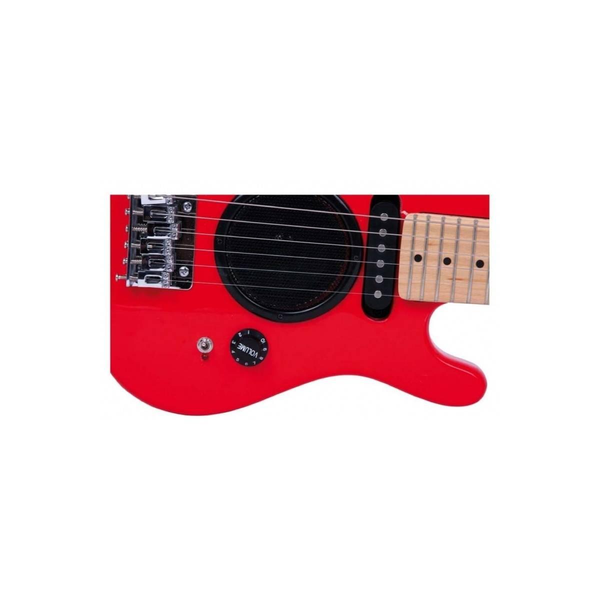 Guitare électrique enfant 1/4 ampli intégré Rouge