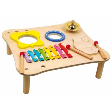 Table musicale bois multi-instruments