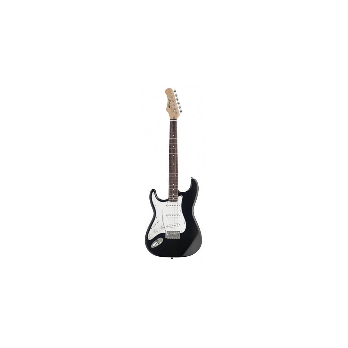 Guitare Electrique Gaucher type S Noire