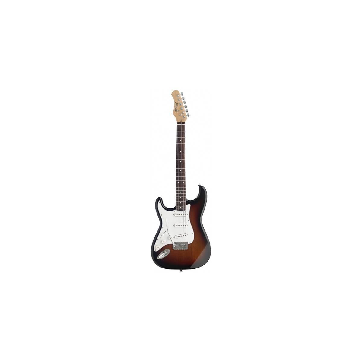 Guitare Electrique Gaucher type S Sunburst