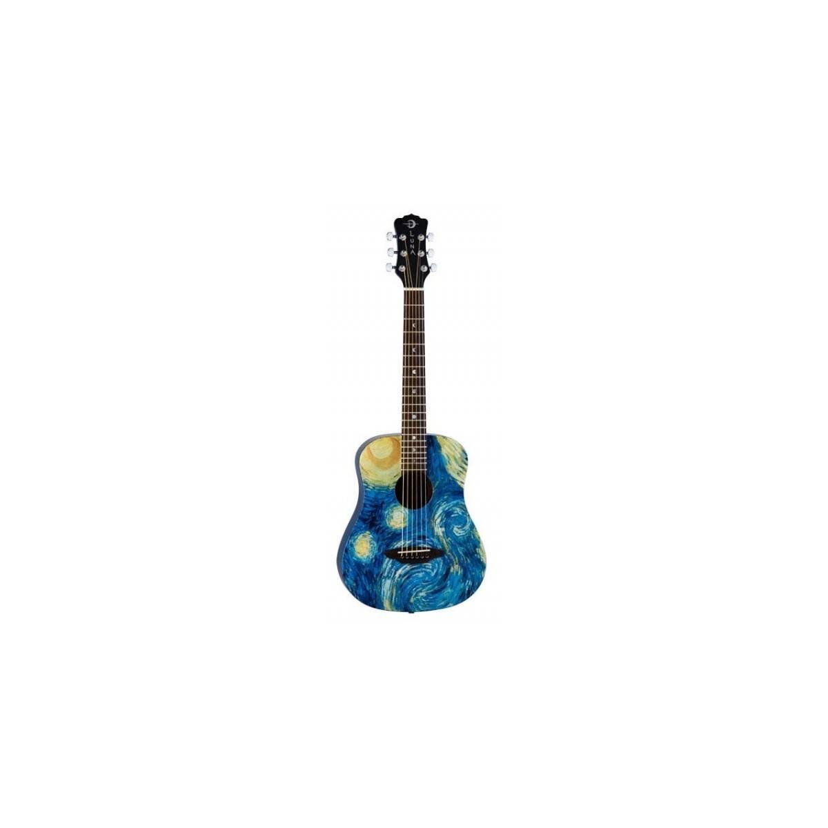 guitare acoustique 3 4 folk luna guitars safari starry. Black Bedroom Furniture Sets. Home Design Ideas
