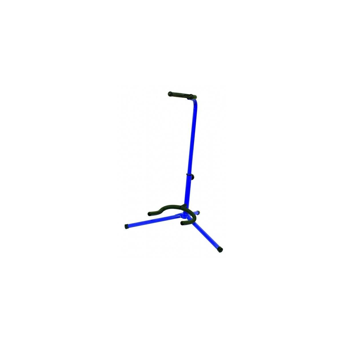 Support guitare polyvalent bleu