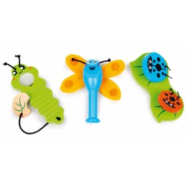 Ensemble 3 instruments bébé Insectes