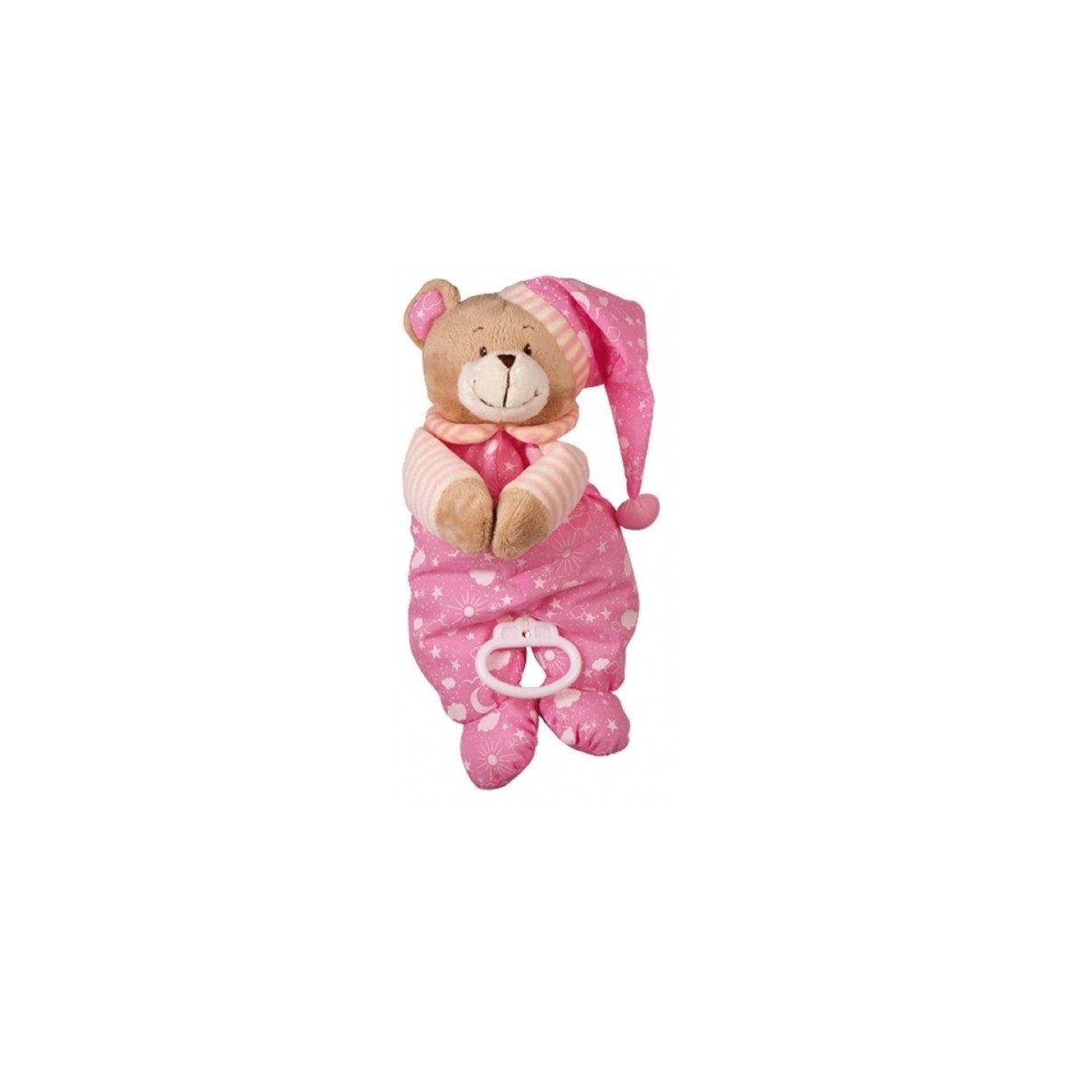 Peluche musicale Ourson Rose