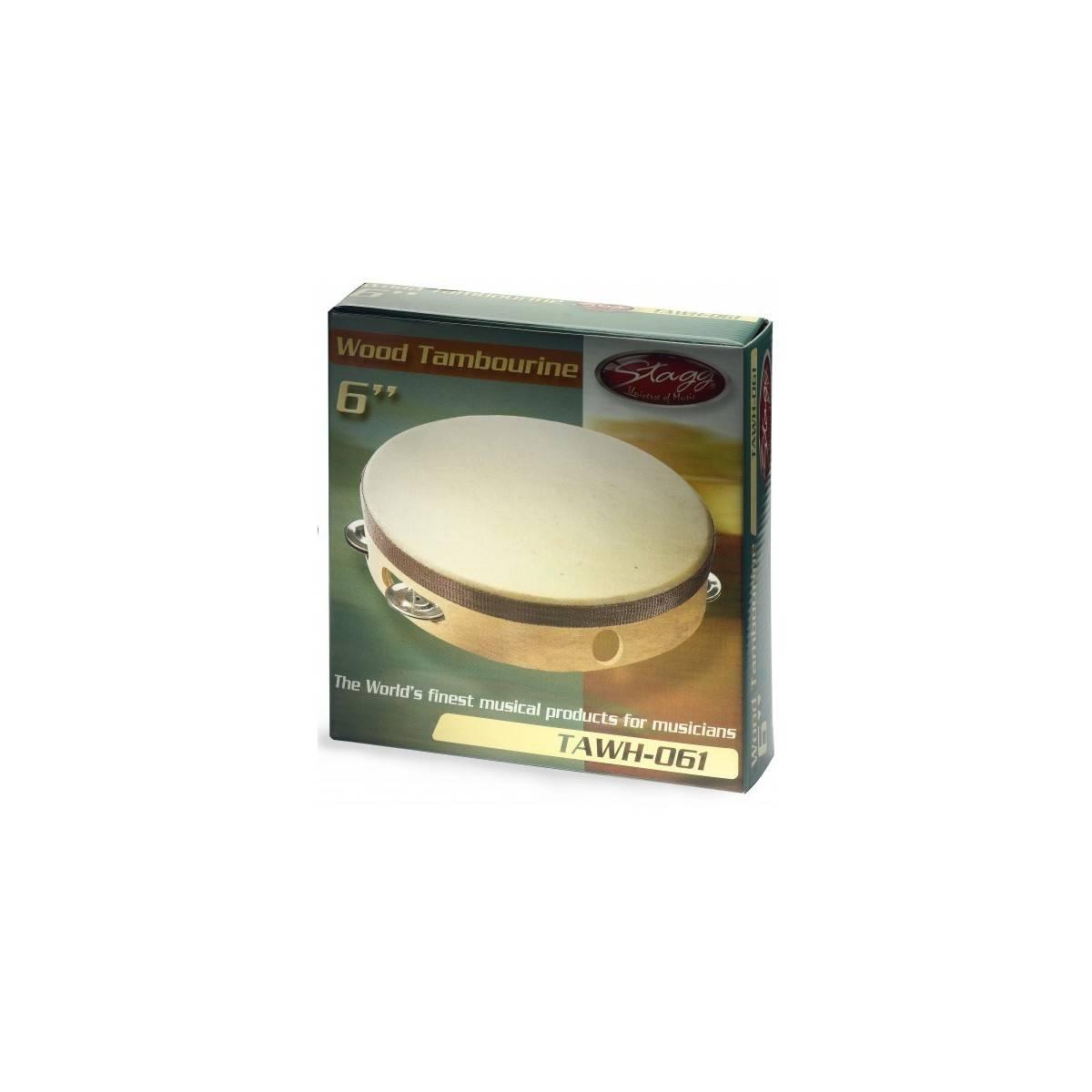 Tambourin Enfant peau et cymbalettes 15 cm HQ