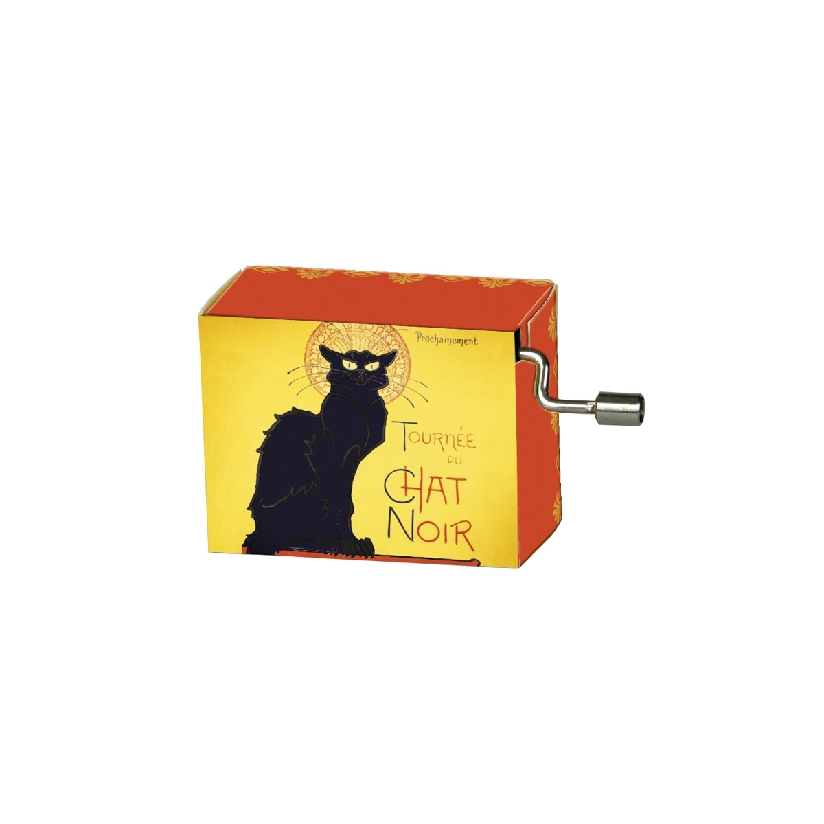 Serinette French Cancan Motifs Chat Noir