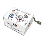 Serinette Happy Birthday motifs Garçon & Chat