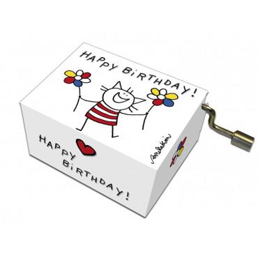 Serinette Happy Birthday motifs Petit Chat