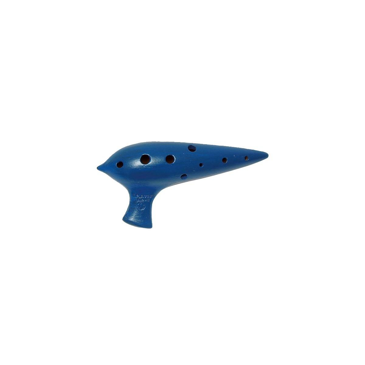 Ocarina Premium en Sol - terre cuite bleu