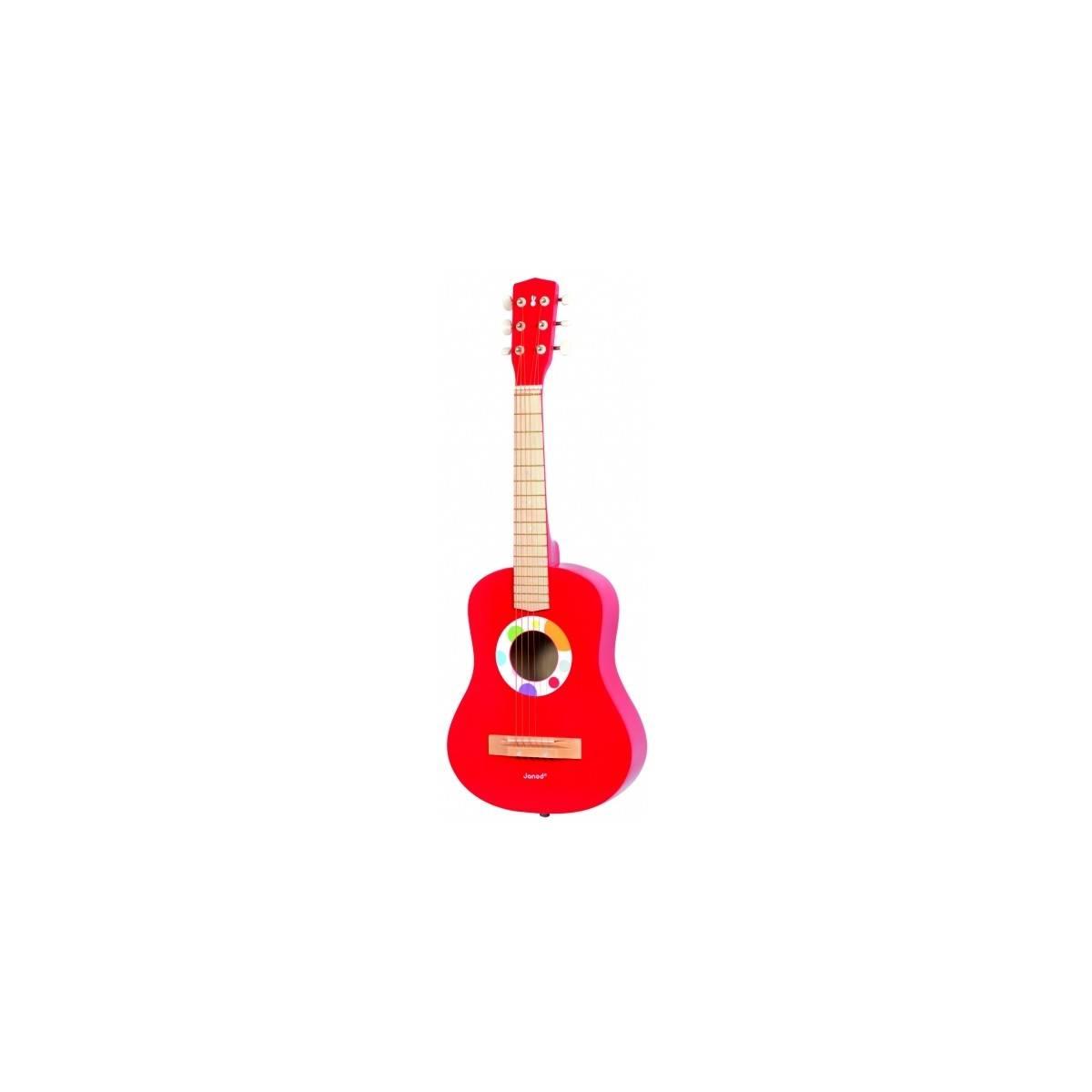Guitare jouet 1/4 Confetti Rouge