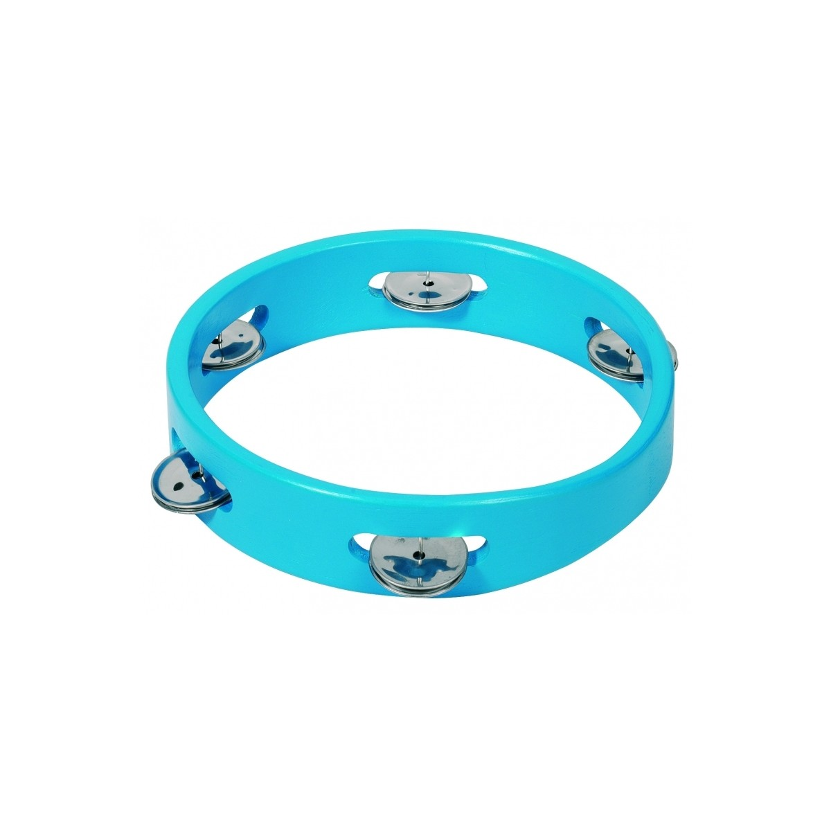 Tambourin Cymbalettes Bois Bleu 8''
