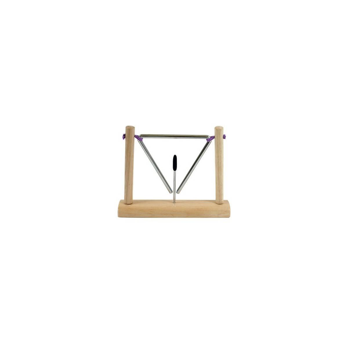 fuzeau triangle suspendu sur socle petites percussions. Black Bedroom Furniture Sets. Home Design Ideas