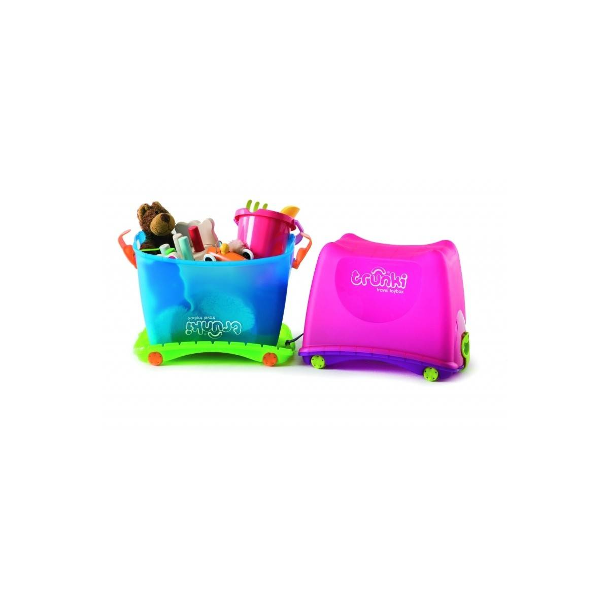 trunki toy box bleu caisse rangement jouets et. Black Bedroom Furniture Sets. Home Design Ideas